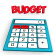 Budget Calculator - Stock Photo