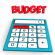 Stock Photo: Budget Calculator