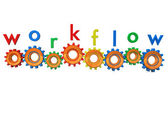 Workflow Gears — Stock Photo