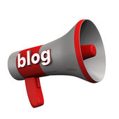 Blog Megaphone — Stock Photo