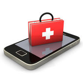 First Aid Smartphone — Stock Photo