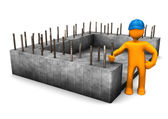 Foundation Civil Engineer — Stockfoto