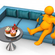 Stock Photo: Lazy And Fat Cupcakes