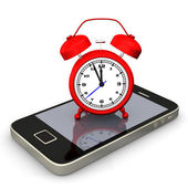 Alarmer Smartphone — Stockfoto