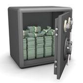 Opened Safe Euro Notes — Stock Photo