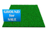 Ground For Sale — Stock Photo
