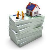 Handshake House Money — Stock Photo