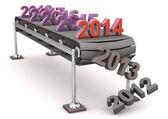 Line 2014 — Stock Photo