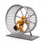 Hamster Running Wheel — Stock Photo