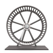 Hamster Running Wheel — Stock Photo