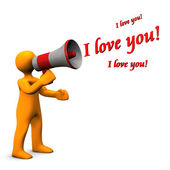 Megaphone I Love You — Stock Photo
