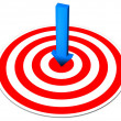Foto Stock: Blue Arrow Red Target