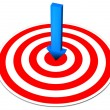 Blue Arrow Red Target — Stock Photo