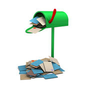 Overcrowded Mailbox — Stock Photo