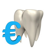 Euro Tooth — Stock Photo