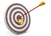 House Bullseye Target — Stock Photo