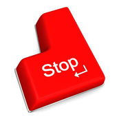 Stop Enter Key — Stock Photo
