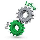 Gears Action Plan — Stock Photo