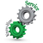 Gears Service Know-How — Stock Photo