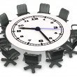 Clock Conference Table — Foto Stock
