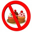 Cupcakes Forbidden — Stock Photo