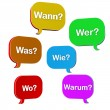 Speech Bubbles Questions — Stockfoto