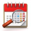 Calendar Loupe — Stock Photo