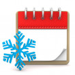 Calendar Winter — Stock Photo