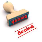 Stamp Denied — Stock Photo