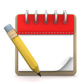Σημειωματάριο μολύβι — Φωτογραφία Αρχείου
