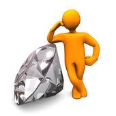 Manikin Diamond — Stock Photo