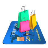 Credit Card Shopping — Stock Photo