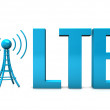 Stock Photo: LTE Antenna