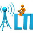 LTE Manikin — Stock Photo