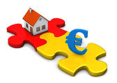 House Puzzle Euro — Stock Photo