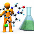 Chemist Molecule — Stock Photo