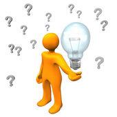 Idea de preguntas — Foto de Stock