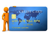 манекен кредитная карта — Стоковое фото