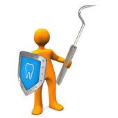 Dentist Shield Scaler — Stock Photo