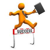 Businessman Steeplechase Success — Stock Photo