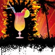 Spring Break Beach Cocktail Party - Stock Vector
