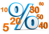 Percent With Numbers — Stock Photo