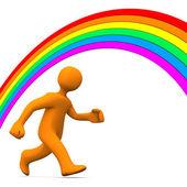 Rainbow Run Away — Stock Photo