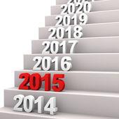 лестница к 2015 — Стоковое фото