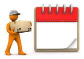 Notepad Shipment — Stock Photo