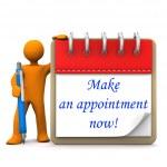 Cartoon man Appointment — Stock Photo