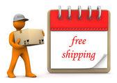Notepad Free Shipping — Stock Photo