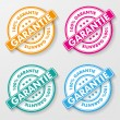 100 Percent Guarantee Paper Labels — Stock Vector #24601821