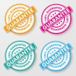 Stock Vector: 100 Percent Guarantee Paper Labels