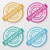 100 Percent Guarantee Paper Labels — Stock Vector